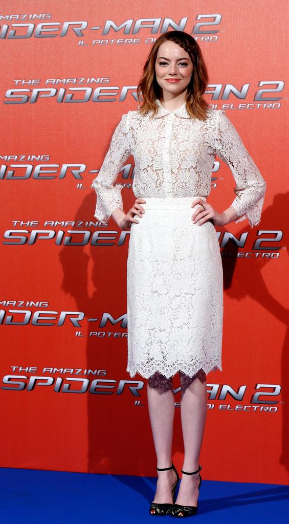 The Amazing Spider-Man 2: il potere di Electro - Emma Stone a Roma
