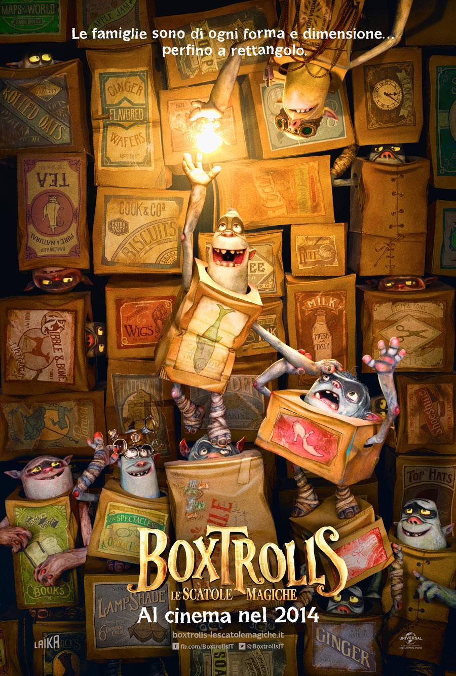 Risultati immagini per boxtrolls - le scatole magiche poster