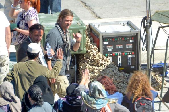 Brad Pitt: foto dal set di World War Z