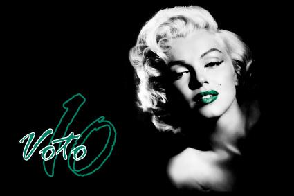 Cartolina Voto 10: Marilyn Monroe