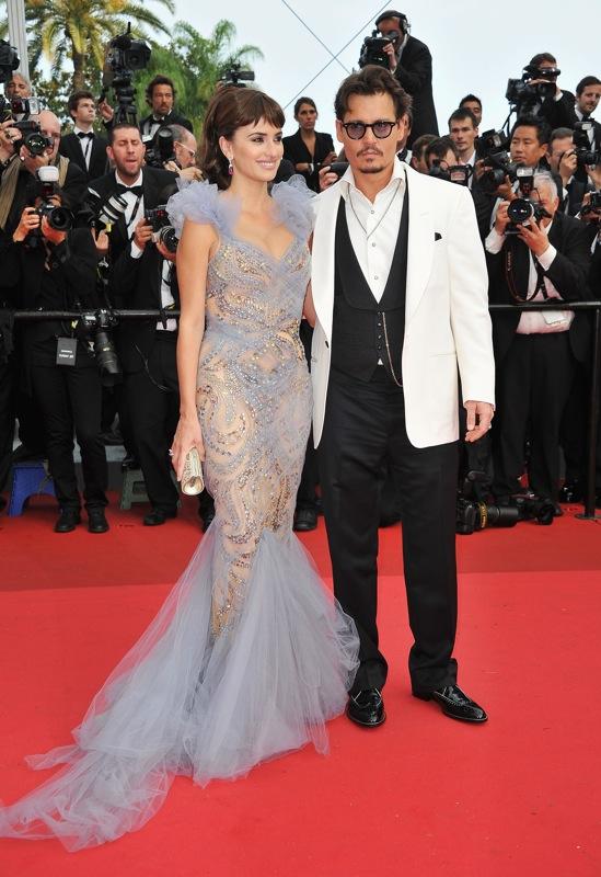 Penelope Cruz e Johnny Depp sul Red Carpet di Cannes