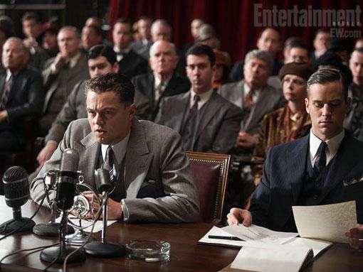 Leonardo DiCaprio sul set di J. Edgar