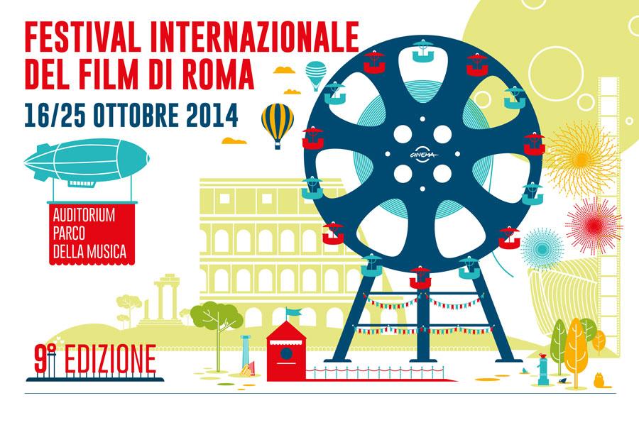 Il visual della nona edizione del Festival Internazionale del Film di Roma