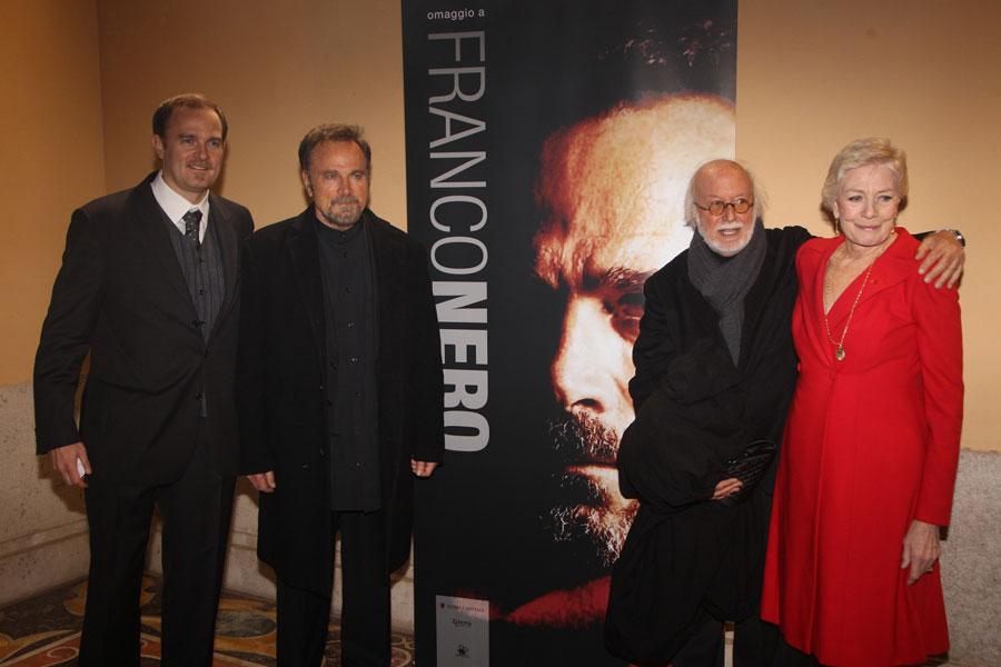 Carlo e Franco Nero, Adriano Pintaldi e Vanessa Redgrave
