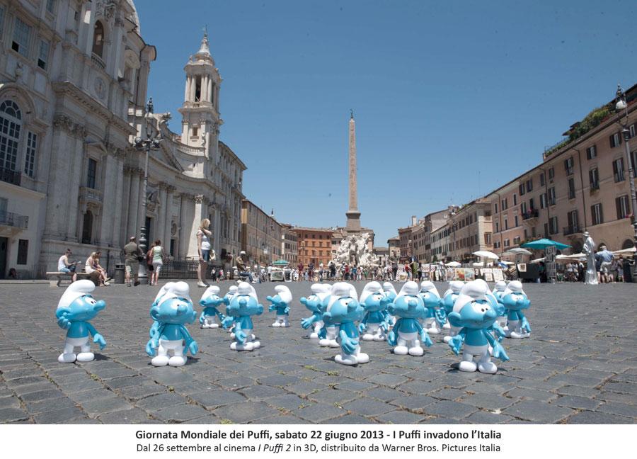 I Puffi a Piazza Navona - Roma 2013