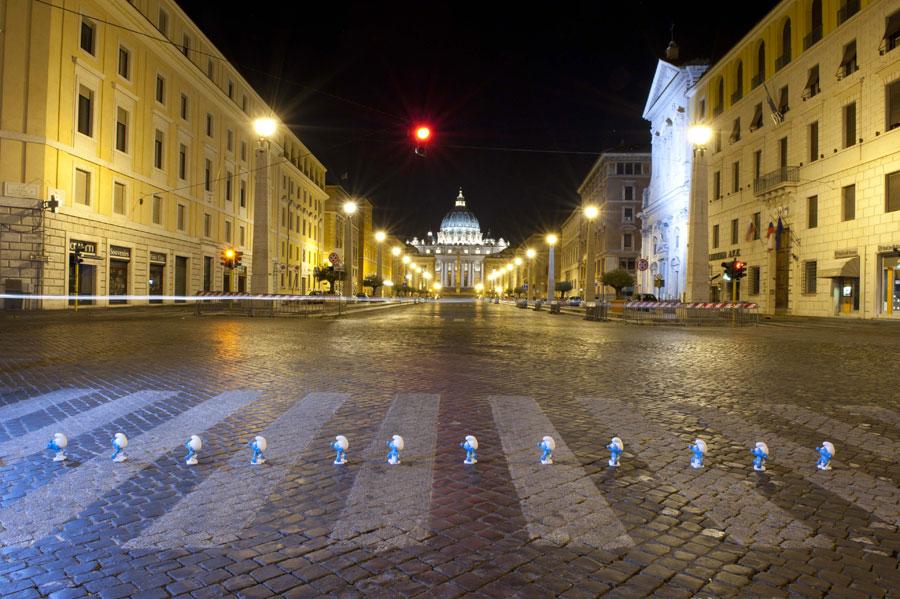I Puffi a San Pietro - Roma 2013
