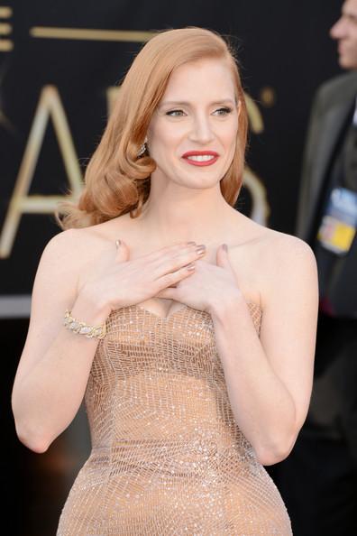 Oscar 2013: Jessica Chastain sul Red Carpet