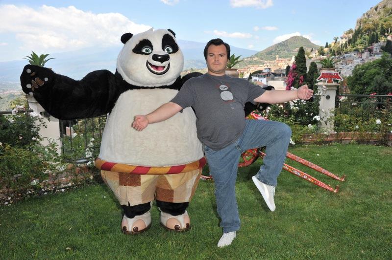 Kung Fu Panda 2: photo call a Taormina