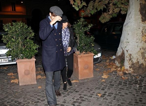 Mila Kunis e Ashton Kutcher cena segreta a roma - 2