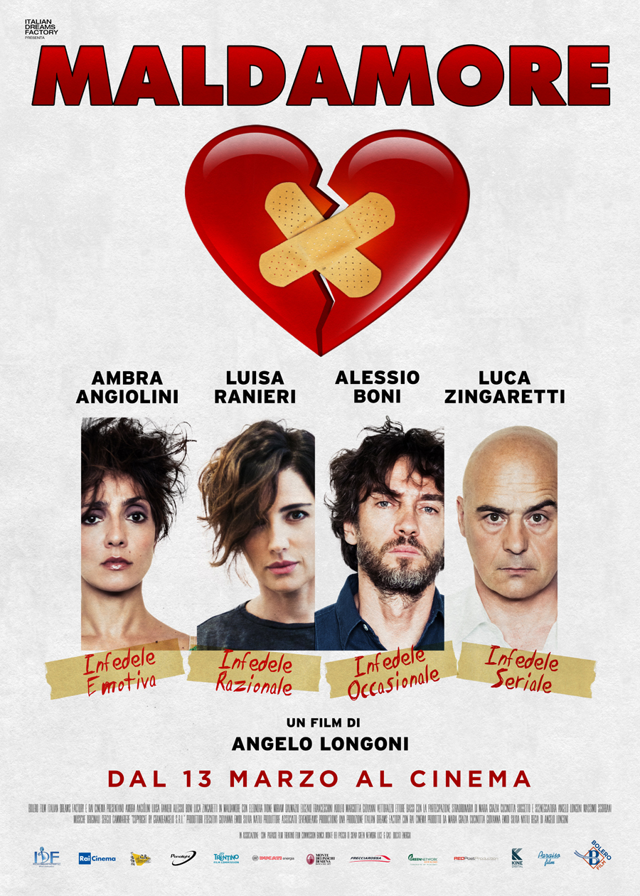 Il poster di maldamore con ambra angiolini alessio boni luisa ranieri e luca zingaretti - Film lo specchio della vita italiano ...