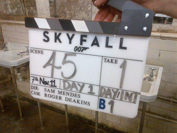 Prima foto ufficiale per Skyfall: ecco il primo ciak