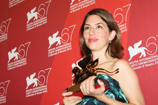 Sofia Coppola - Leone d'oro - Venezia 11-09-2010