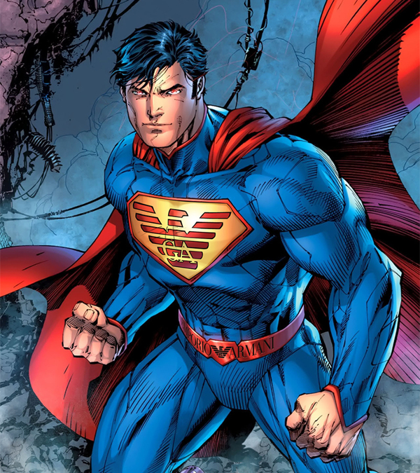 Superman brandizzato Armani
