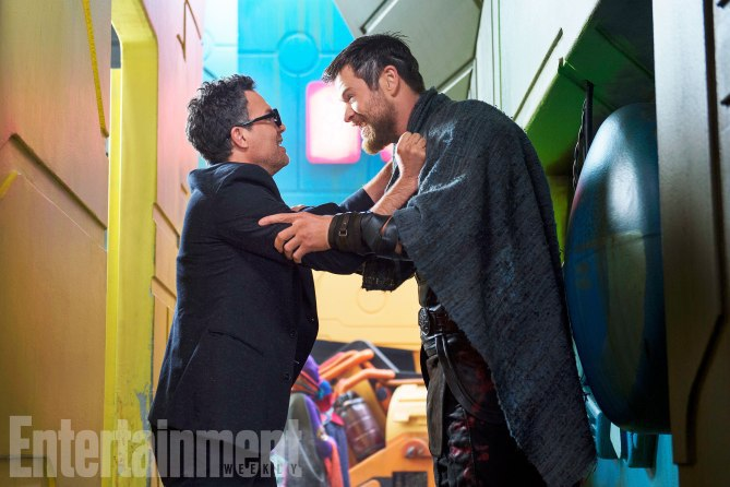 Thor: Ragnarok: Chris Hemsworth e Mark Ruffalo
