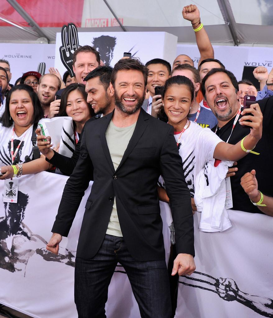 Hugh Jackman alla premiere di New York di Wolverine: l'Immortale