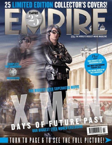 X-Men: Giorni di un Futuro Passato, la cover di Quicksilver