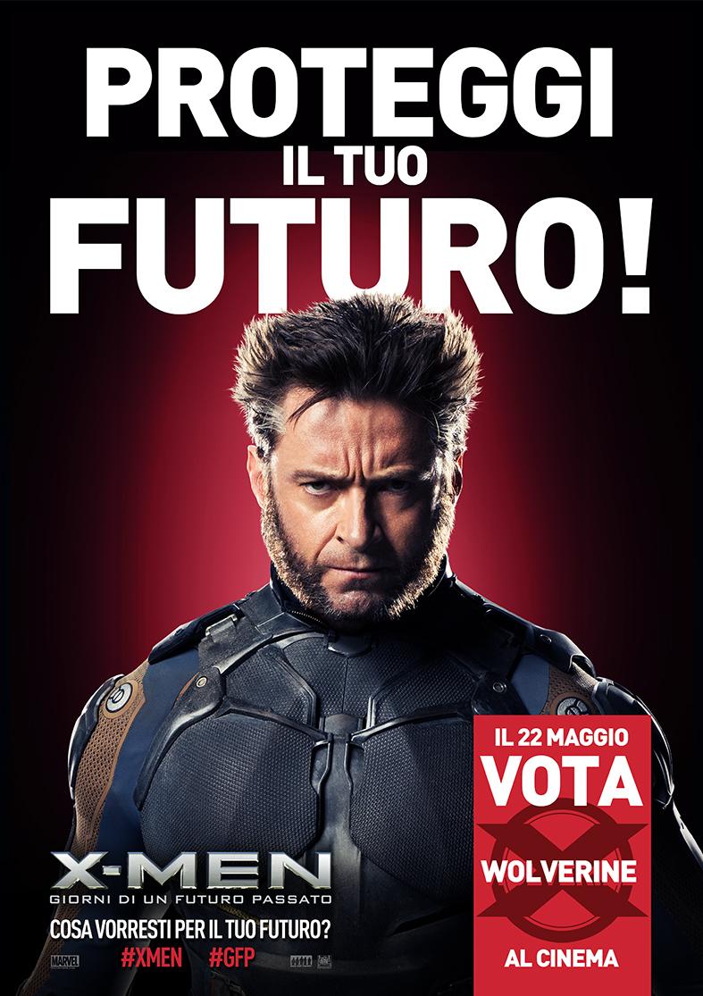 X-Men: Giorni di Un Futuro Passato, Wolverine candidato alle elezioni - poster