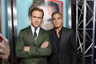 Ryan Gosling e George Clooney giocano sul Red Carpet di The Ides of March