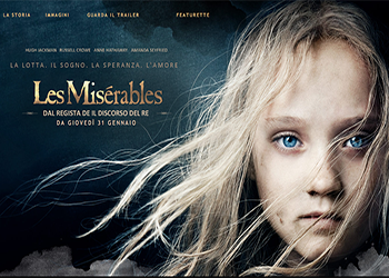 Una clip de Les Miserables con Hugh Jackman protagonista
