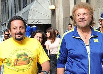 Poveri Ma Ricchi: Christian De Sica e Lucia Ocone protagonisti della scena dal titolo I nuovi ricchi